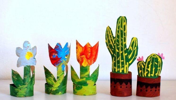 Детские поделки из бумаги - цветы