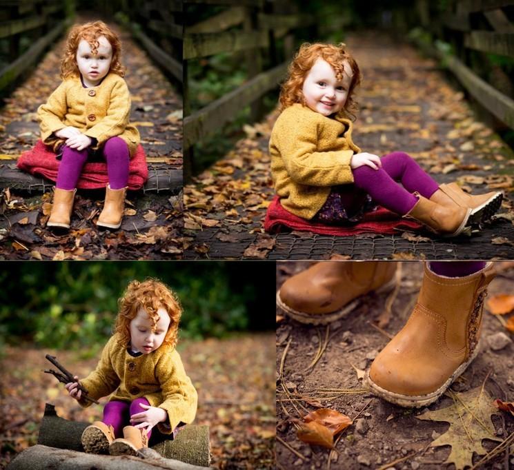Фотосесссия на природе осенняя для ребёнка