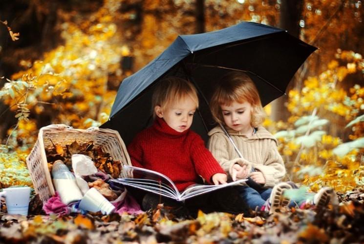 Идеи для осенних фото - дети на природе