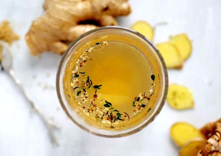 Натуральный имбирный детокс с зеленым чаем