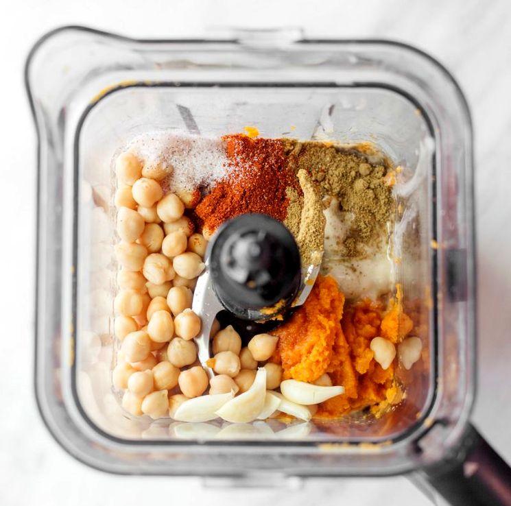 Ингредиенты для приготовления тыквенного хумуса