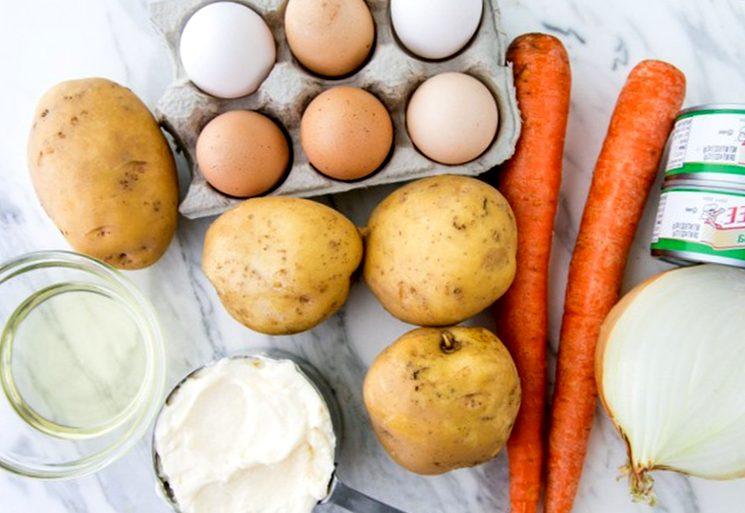 Ингредиенты для салата мимоза