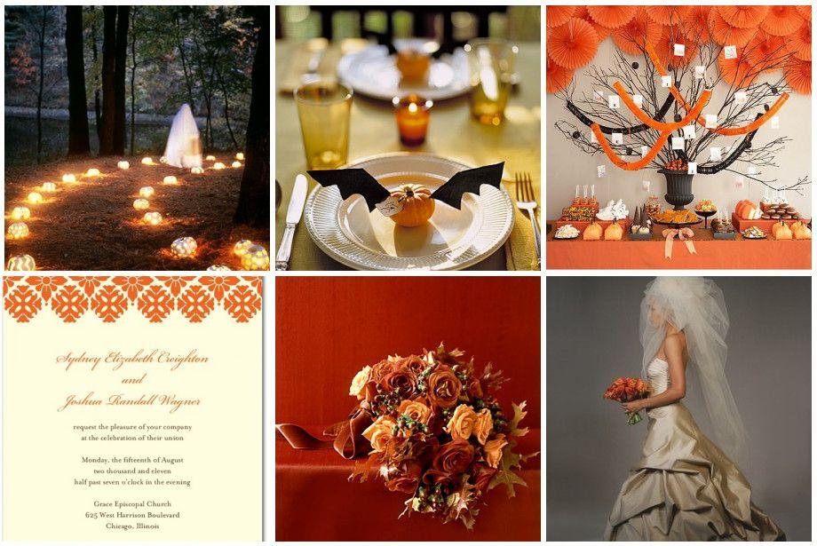 Необычная свадьба в стиле Хэллоуин