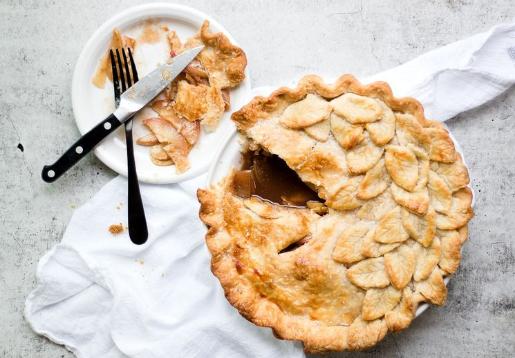 Американский яблочный пирог - Apple pie с карамелью