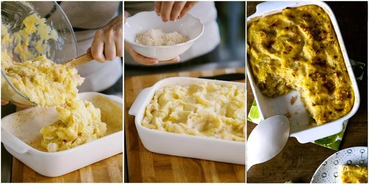 Картофельный пирог с ветчиной и сыром - рецепт с фото