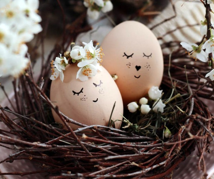 Крашенные яйца на пасху