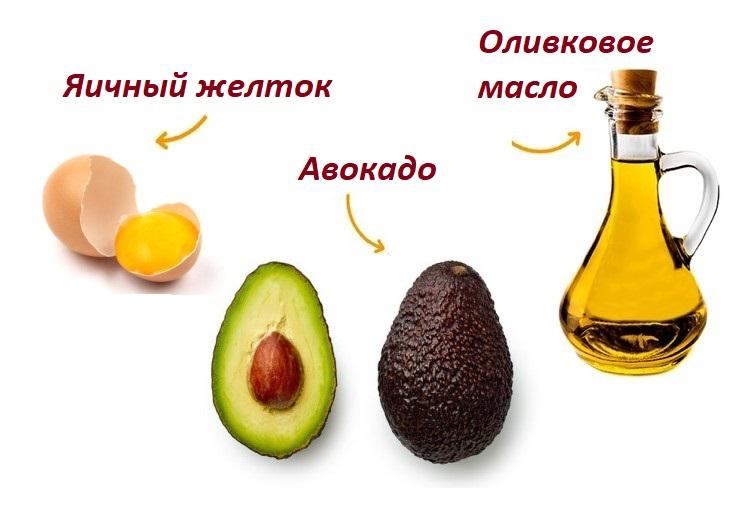 Маска для роста волос с авокадо