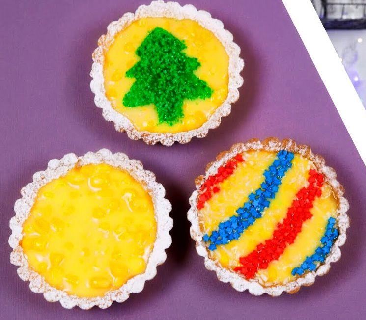 Новогодние тарталетки с кукурузой