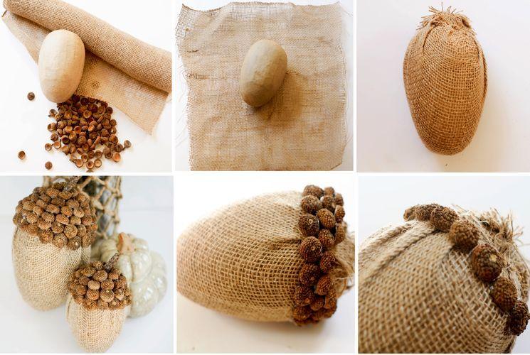 Как сделать желуди из ткани