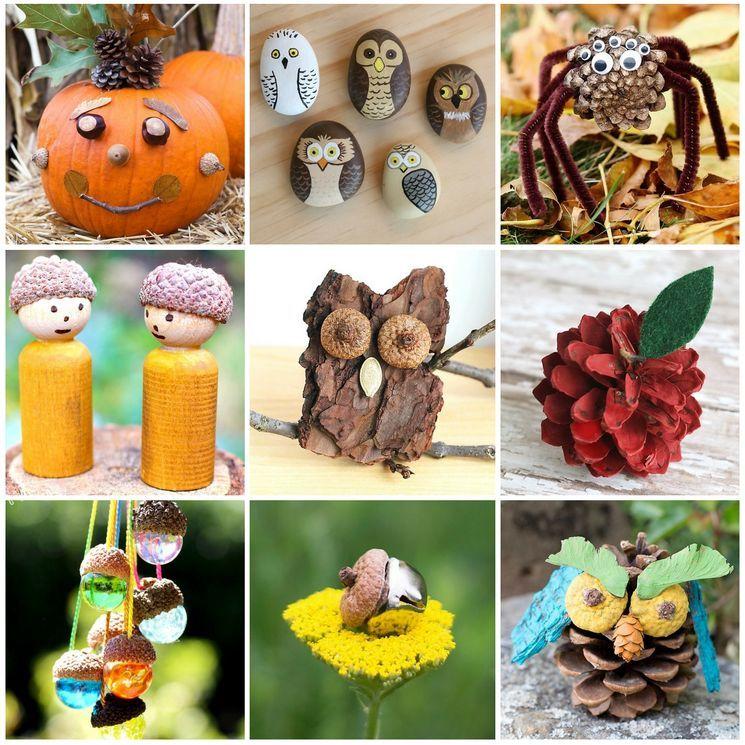 Детские поделки из природных материалов