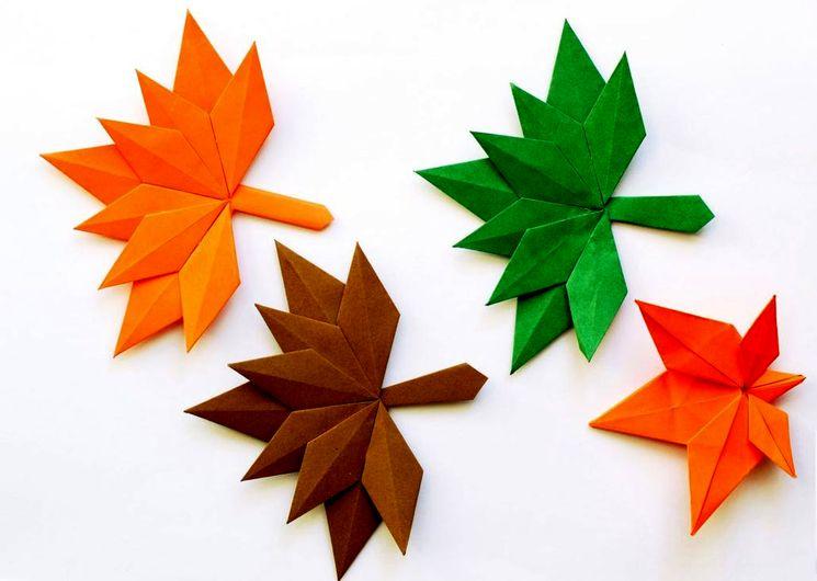 Делаем осенние разноцветные листья из бумаги из бумаги