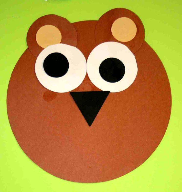 Бумажный медвеженок для детского сада