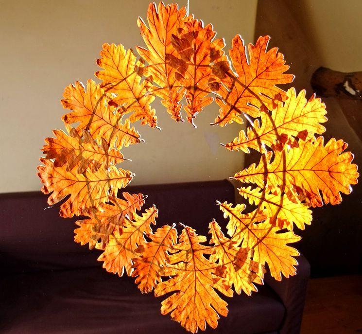 Какой декор сделать из осенних листьев