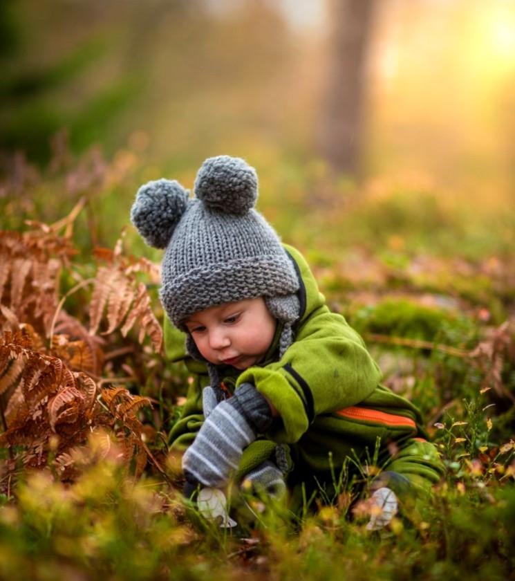 Осенняя фотосессия для ребёнка