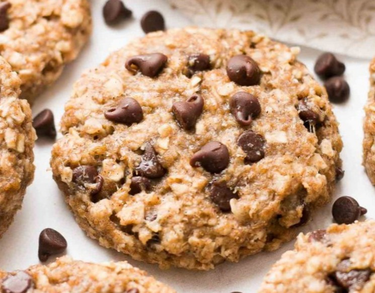 Овсяное печенье с шоколадом и бананом - рецепт