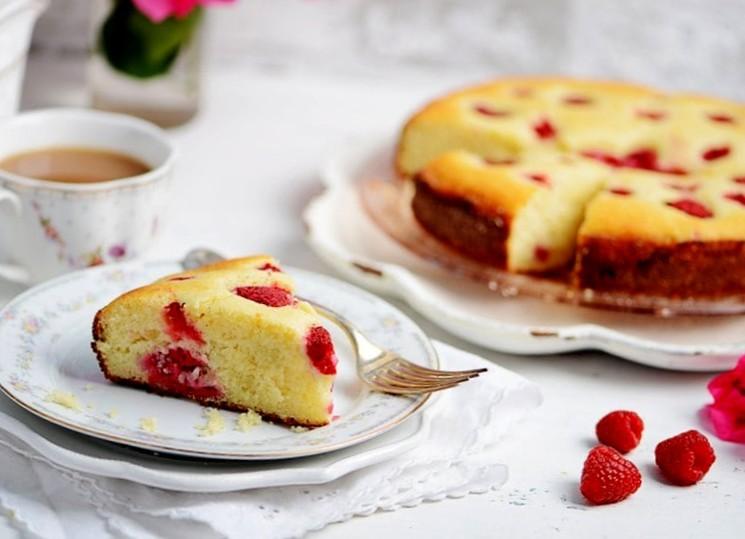Пирог с малиной и рикоттой - рецепт