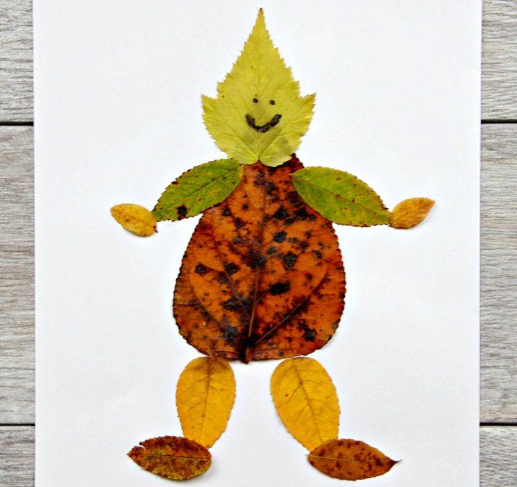 Что сделать с ребенком в садик из осенних листьев