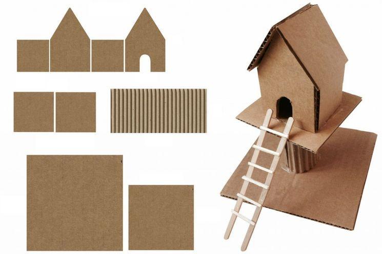 Задание в школу - картонный дом