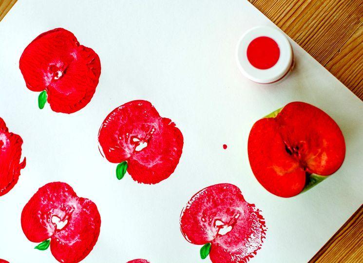 Детское творчество - рисуем яблоки