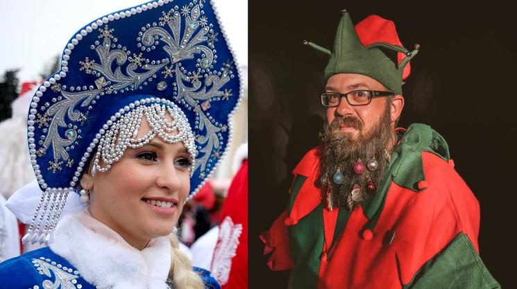 Помощники Деда Мороза и Санта Клауса