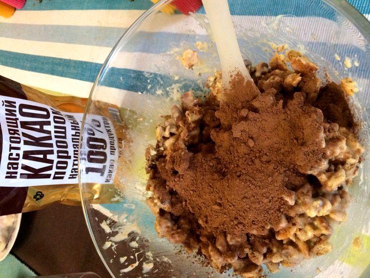 Пошаговый рецепт шоколадной колбасы