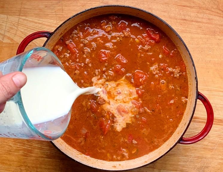 Рецепт паста болоньезе - шаг 7