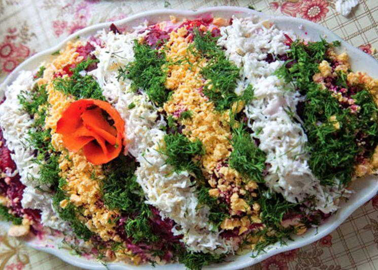 Праздничный рецепт селедки под шубой