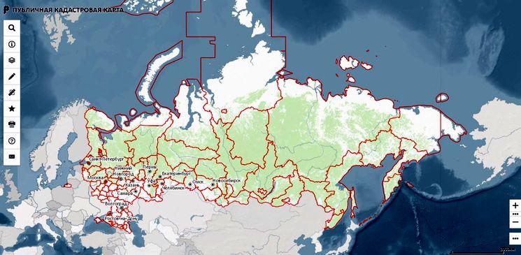 Публичная кадастровая карта Росреестра