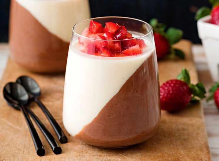 Шоколадно-ванильная Панакота