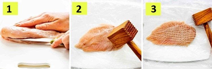 Курятина в панировке шаг 1