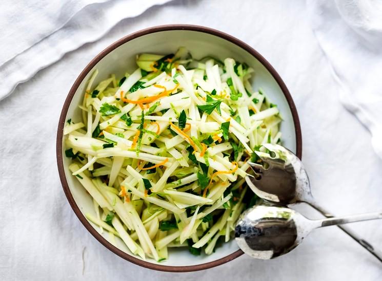 Рецепт салата из свежей капусты с морковью