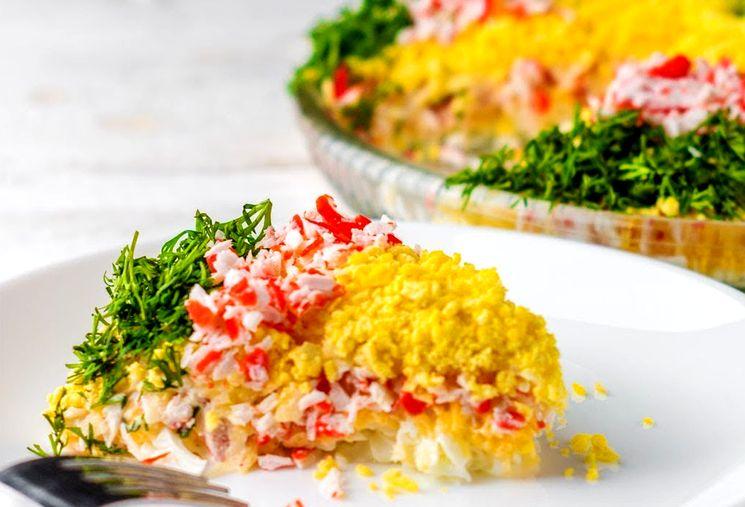 Салат Нежность - простое праздничное блюдо