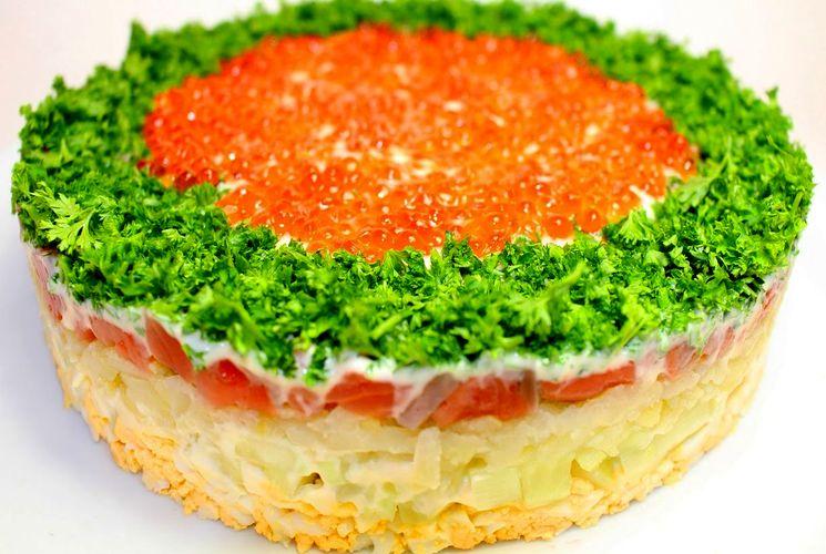 "Новогодний салат ""Императрица"""