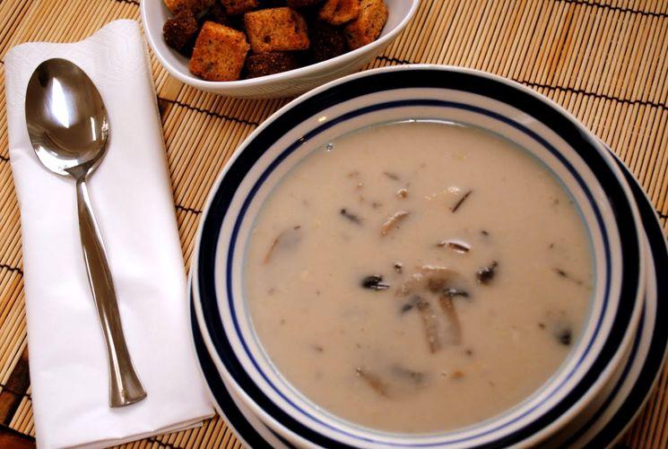 Рецепт сливочного супа из сушеных грибов