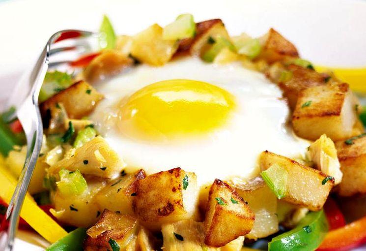 Что приготовить на завтрак - картофельные гнездышки с сыром