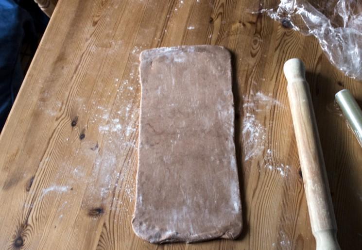 Слоёное тесто с какао