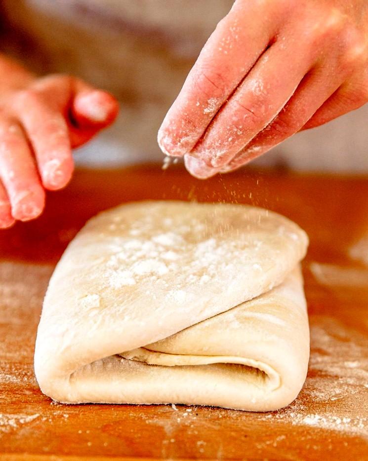 Слоеное тесто с уксусом