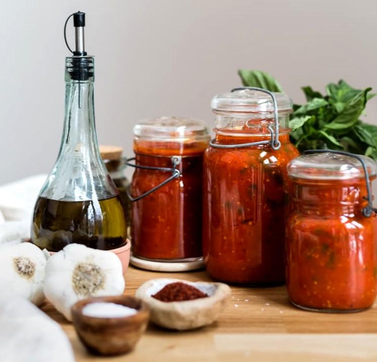 Томатная паста с базиликом - рецепт