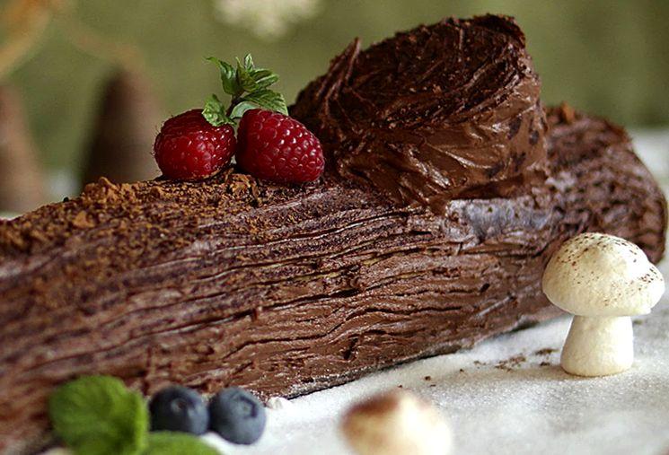 Торт Новогоднее полено - рождественский десерт