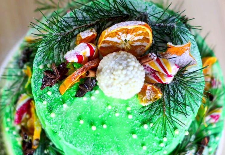 Торт Двухъярусный акварельный
