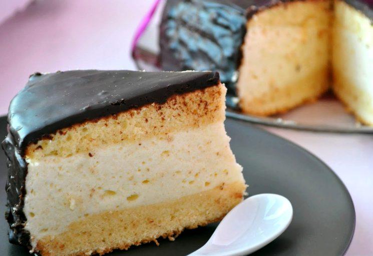 Рецепт бисквитного торта Птичье молоко
