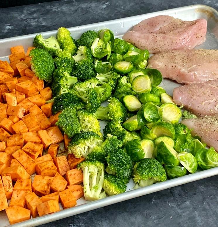Вкусный ужин - простой рецепт курятины с овощами