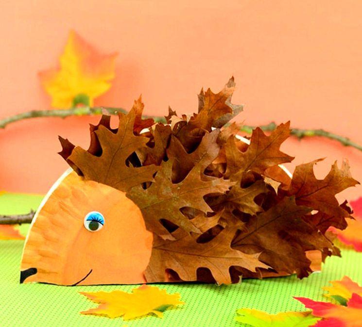 Детская поделка на тему осень - ёжик